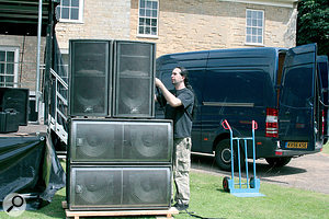 It's worth experimenting with subwoofer placement if you need to get the most out of your system. Stacking two subs together, rather than one either side of the stage, for example, could improve  the system's projection.