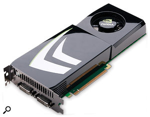 NVidia graphics cards such as this GeForce model are being pressed into service to provide extra processing capacity — and now audio software producers are getting in on the act.