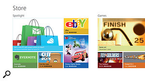 The Windows 8 App Store should already have more than 50,000 apps available by the time you read this, and is already awash with free games, but there's little sign of any significant music or video apps as yet.