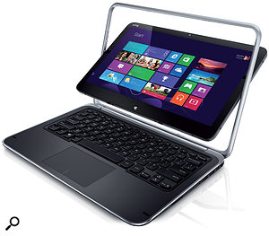 The Dell XPS Duo 12 is one of a new class of Windows 8 PCs that can be used either as a tablet or (with the flip of its screen) as a laptop.