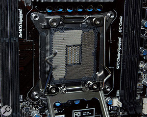 What features ajaw-dropping 2011 protruding pins and supports Intel's new Sandy Bridge-E processors? Yes, it's the new LGA 2011 socket.