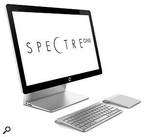 Slick all-in-one design comes to the PC, courtesy of the HP Spectra One, whose wireless touchpad is an interesting alternative to the Windows 8 touchscreen.