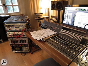 Calum Malcolm's studio is based around a  vintage Neve desk and a  deliberately small selection of outboard.