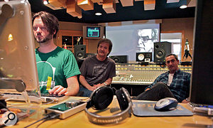 Pro Tools editor Brandon Duncan, Bob Clearmountain and Rich Symons at work in Clearmountain's Mix This! studio.