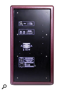 Rear-panel controls are limited to input-sensitivity and LF trim knobs. The whole amplifier pack is suspended within the cabinet, reducing its susceptibility to cabinet vibrations.