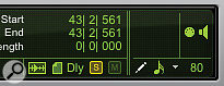 The Edit window now features Solo and Mute indicators (bottom right). Here you can see the Solo indicator lit up to show that there's at least one soloed track in the session.
