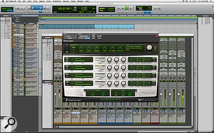 In order to make life easier for newcomers, Pro Tools 8 comes with avariety of templates to give you astarting point for your own productions. Here is the Electronica template, which comes with aready‑made drum track played by the new Xpand!2 instrument.
