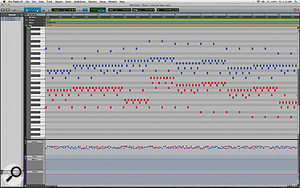 The MIDI Editor window finally gives Pro Tools the ability to edit multiple MIDI tracks simultaneously in one graphical window, complete with velocity, controller and automation lanes.