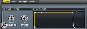 Adding a release envelope will help your sound decay more naturally when a key is released.