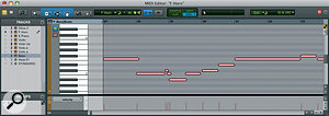 The MIDI editor can occupy its own window (top) or be docked within the main Edit window (below).