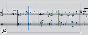 Clicking the Grabber tool away from any note allows you to lasso multiple notes.