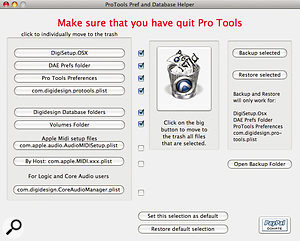 Jean‑Charles Deshaies' Pro Tools Prefs & Database Helper application can make disk management easier on Mac systems.