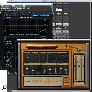 Here, Blue Cat Audio's MB7 plug-in is hosting iZotope's Nectar as aVST plug-in within Pro Tools 11.