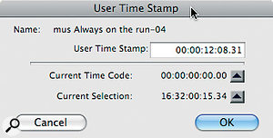 Pro Tools Regions contain both an Original and aUser Time Stamp; the latter can be edited to fit changes in video timecode.