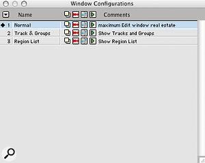 Using Window Configurations