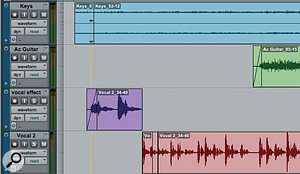 By default, files that you record are named after the track they're recorded on to.