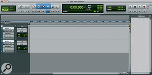 An Edit window with two newly created audio tracks. Above these is the Toolbar.