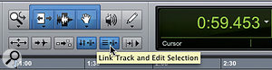 Linking the track and edit selections makes it easier to navigate your session from the keyboard.