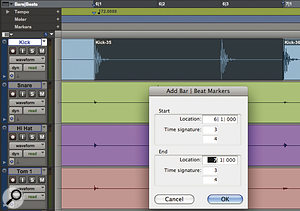 It can sometimes be quicker to create atempo map manually by selecting abar's worth of audio and using the Identify Beat dialogue.