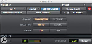 A few AudioSuite plug-ins, like Vari-Fi, allow you to enter a handle length, but don't work as expected when you do so.
