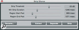Strip Silence can save a lot of time when you want to clean up your audio Regions.