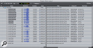 Now all the audio files in the project are in one place, vastly reducing the chances of me seeing the dreaded Missing Files window!