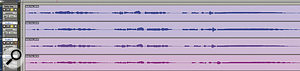 The challenge: to make the three lower vocal recordings in time with the lead vocal at the top.