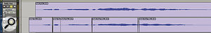 To put this long note properly in time, I've had to split it and stretch the two halves separately.
