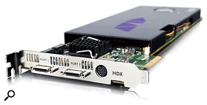 Avid's HDX cards aren't supported in older Mac Pros, and can be a challenge to fit into new ones!