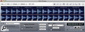 AudioFinder features sophisticated beat detection and splitting features.