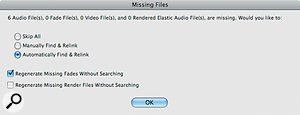 Uh‑oh: Pro Tools can't find some files that are referenced in this Session.