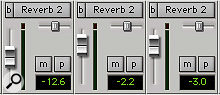 If you have the sends in Pro Tools' Mix window set up to display the level and pan sliders, pressing a  Command 8 Send button in Console View will switch to the appropriate send in the Mix window.