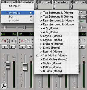 The small amount of time it takes to name your inputs, outputs and buses in the I/O Setup window will be amply repaid when you try to select them in the Pro Tools mixer.