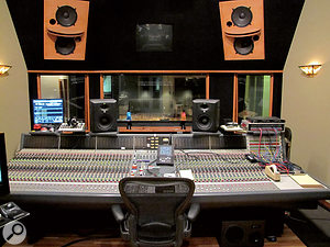 The main control room at Warner Bros' Nashville studio is based around aNeve VR60 console.