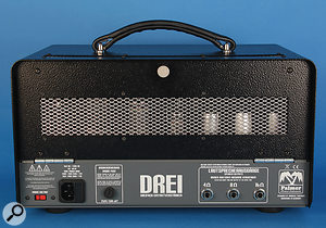 From the back of the Drei, you can see aprofusion of shielded tubes, and dedicated outputs for three different speaker impedances.