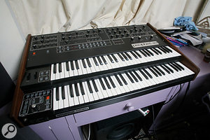 All the vintage synths in the Pendulum studio are still in showroom condition, notably this Sequential Prophet 10.