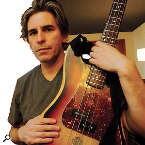 Phil Thornalley with the Fender Precision bass he has had since the age of 16.
