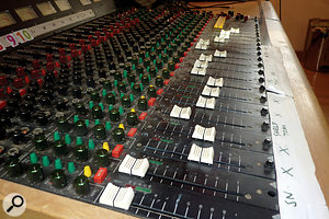 The Swamp is still based around the Trident Tri‑mix desk Thornalley bought in the early '80s.