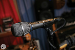 A humble Audio‑Technica Artist Series stage mic provided the ideal vocal sound.