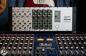 The studio's TL Audio M4 Tubetracker is the main route by which signals arrive in Logic. Compression and gating is often applied at source using the SSL X‑Rack.