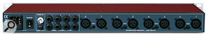 The rear panel plays host to the XLR mic inputs, and jack and ADAT outputs.