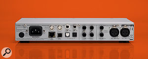 The rear panel of the Lyra 2 offers an array of digital and analogue connections along with an IEC power socket.