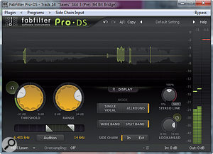 Pro DS doesn't need the hidden 'expert' controlsof other plug-ins in the Fabfilter range and lets you access everything via this simple, single-page interface.