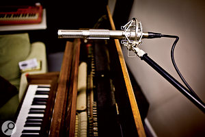 The Prodipe RSL was put to use on an acoustic piano recording, as well as on acoustic guitar, electric guitar and drums.