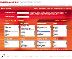 The Internet has changed the way production music is distributed, and most publishers now make it easy to search for and download the tracks you need.