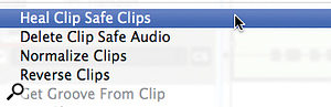 Clip Safe gives Reason 6 and Essentials users a back-up against clipping distortion. When it's enabled, sections of audio clips that have clipped are shown by red areas. All is not lost — just click the clip's 'CS' button or choose the 'Heal Clip Safe Clips' menu item and it's substituted with a distortion-free version.