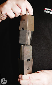 Example 2: Mics mounted vertically with one above the other.