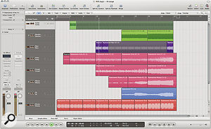 Some commercial artists have made their songs available to download as raw multitrack recordings, which are perfect for practising mixing. This one — 'Hyperpower' by Nine Inch Nails — was originally downloaded for Garageband, but is easily opened and worked onin Logic.