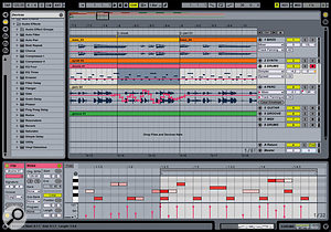 Ableton's Live Lite comes bundled with many affordable audio interfaces and is fairly well-equipped, as this screenshot shows.
