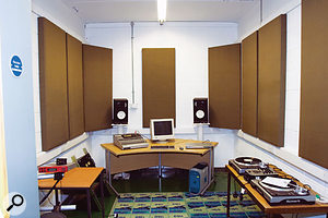 Flutter echoes in a studio can be distracting and fatiguing, so it's often worth putting up some absorbent foam on bare wallsto reduce them.  Don't overdo it, though: you need to maintain a balanced acoustic.